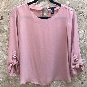 Forever21 buckle sleeve blouse